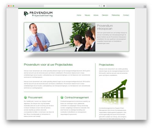 smoothbiz WordPress theme - provendium.nl