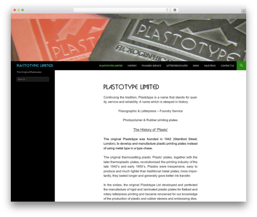 Twenty Fourteen best free WordPress theme - plastotype.co.uk
