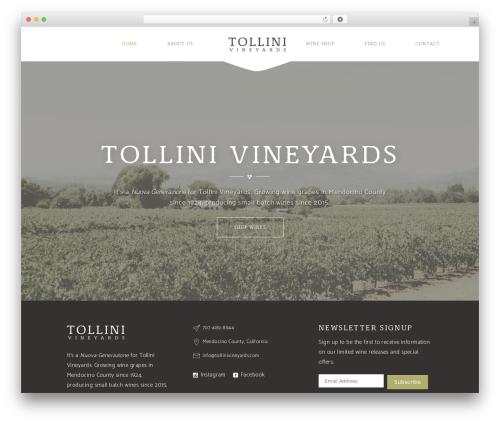 WordPress theme Vino - tollinivineyards.com