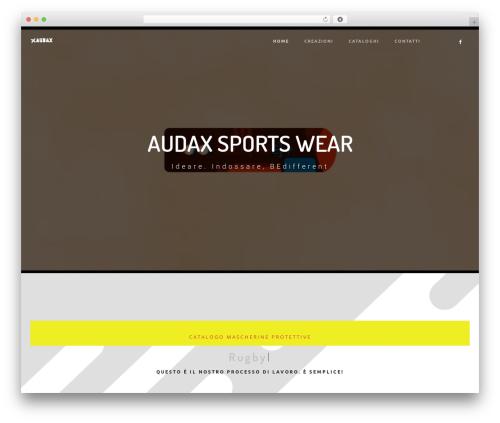 Best WordPress theme Rayko - audaxsportswear.com