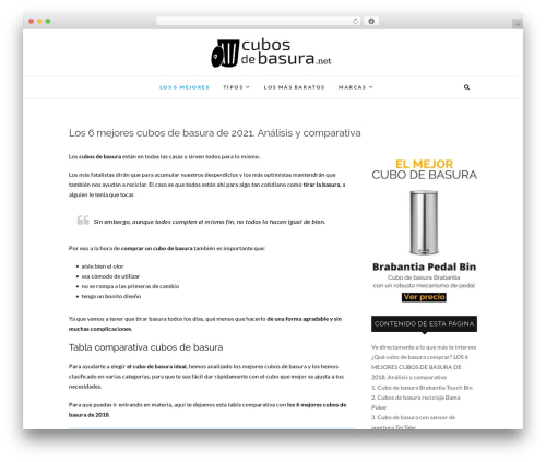 Edge WordPress theme design - cubosdebasura.net