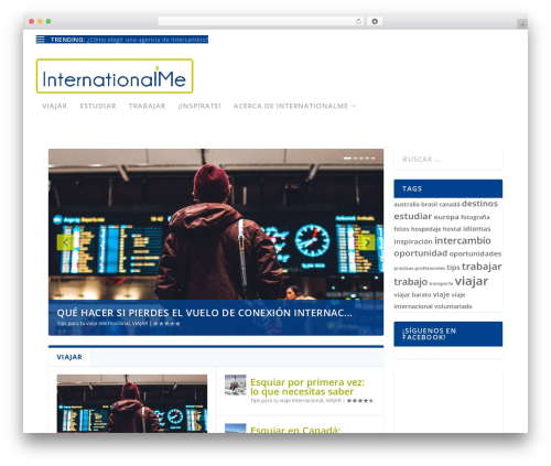 Extra WordPress theme design - internationalme.org