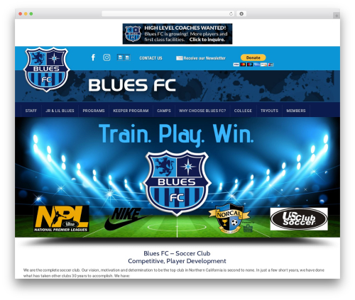 GoalKlub best WordPress template - bluesfc.org