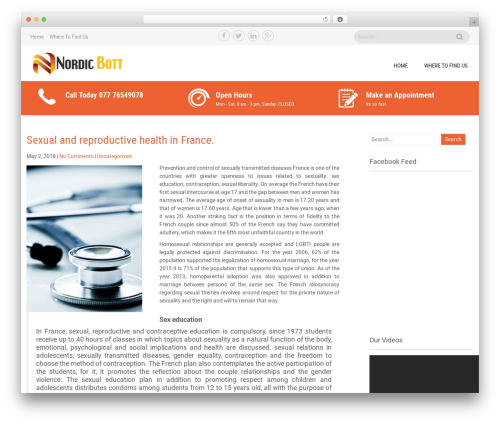 Sanitorium free WordPress theme - nordicbott.net