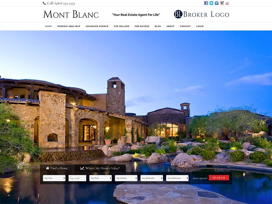 WordPress theme iFound Mont Blanc