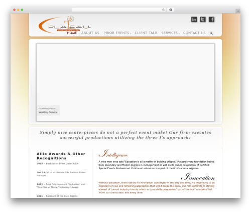 WordPress theme Prestige Ultimate Wordpress Theme - plateauevents.com