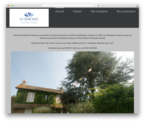 Avada template WordPress - cedrebleu.fr