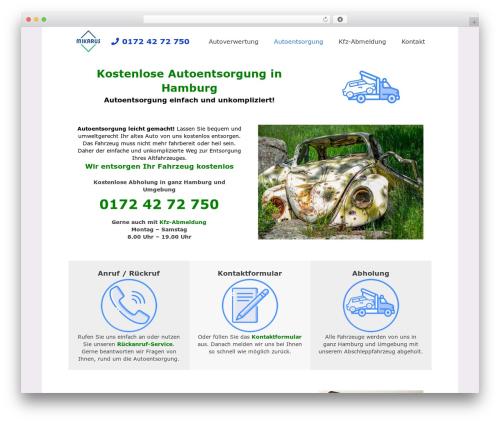Impreza WordPress theme - pkw-entsorgung-hamburg.de