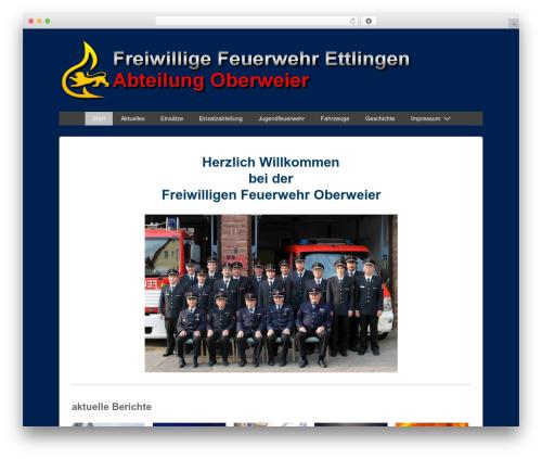 Responsive free WP theme - ff-oberweier.de