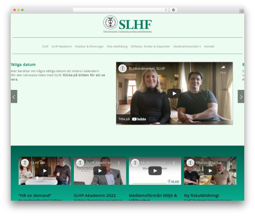 SLHF-tema theme WordPress - slhf.nu