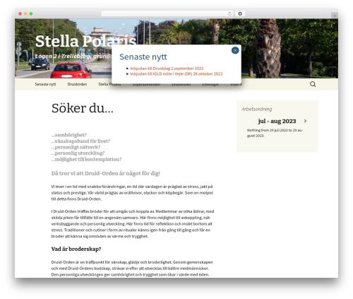 Twenty Thirteen WordPress theme - stella-polaris.se