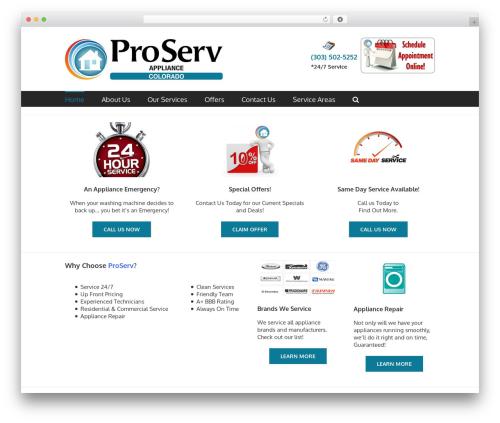WordPress theme Avada - proservcolorado.com