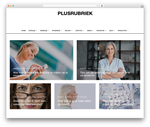 Zeen best WordPress magazine theme - plusrubriek.nl