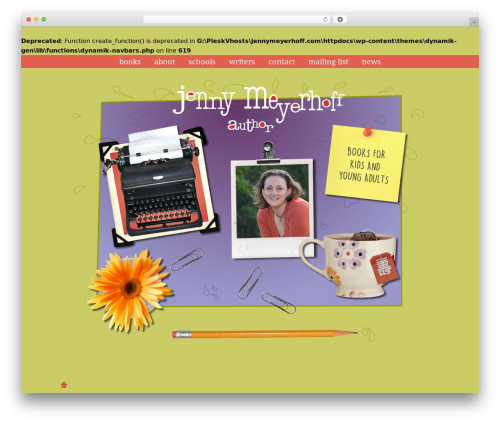 Dynamik-Gen WordPress theme design - jennymeyerhoff.com