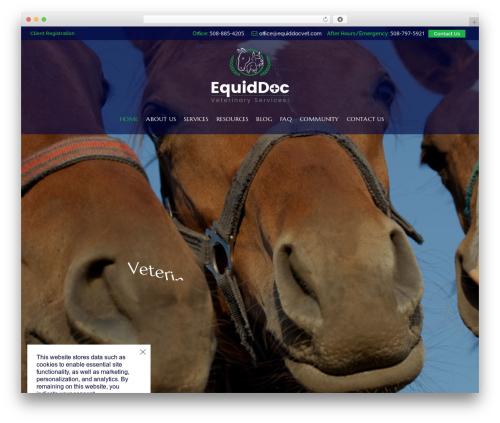 HorseClub medical WordPress theme - equiddocvet.com
