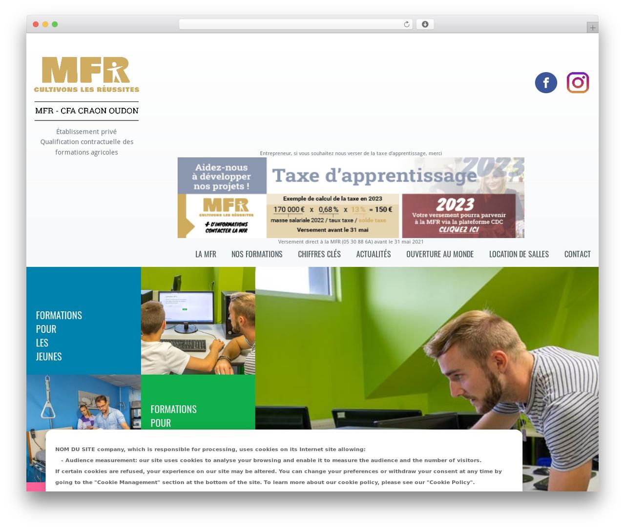 Klasik WordPress theme - mfr-craon-oudon.fr