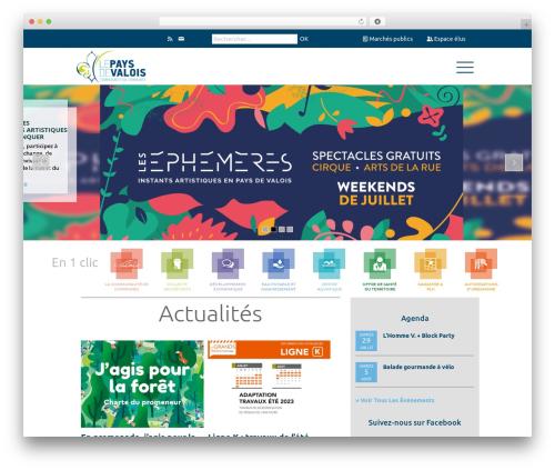 Theme WordPress Betheme - cc-paysdevalois.fr