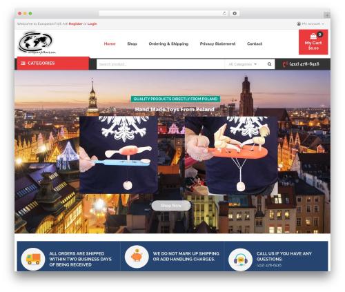 WordPress theme Caden - europeanfolkart.com