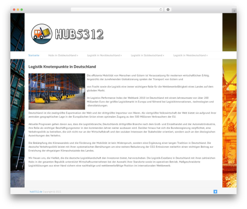 WordPress website template Split - hub5312.de