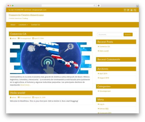 Di Business top WordPress theme - comerciocentroamericano.com
