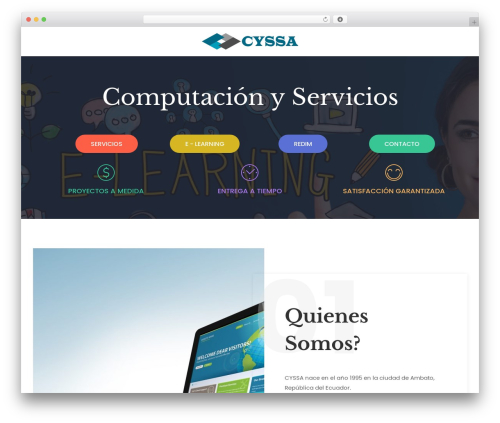 neve WordPress website template - cyssaambato.com