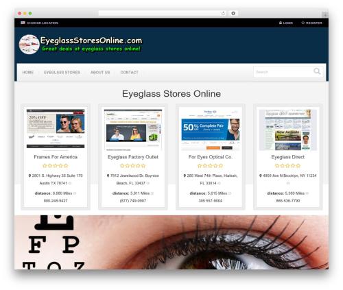Responsive Business Theme best WooCommerce theme - eyeglassstoresonline.com
