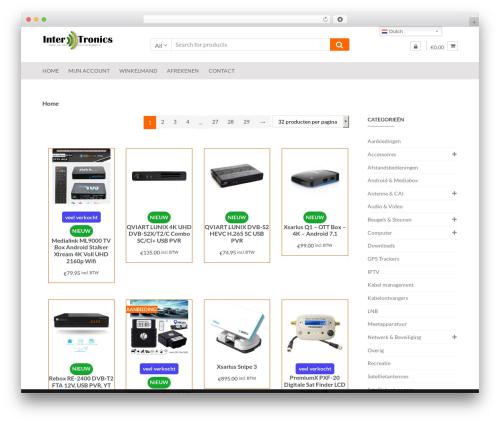 Shopper free WordPress theme - intertronics.eu
