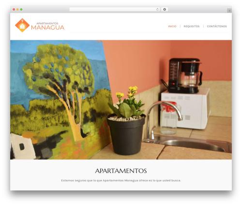 Swing Lite WordPress website template - apartamentosmanagua.com