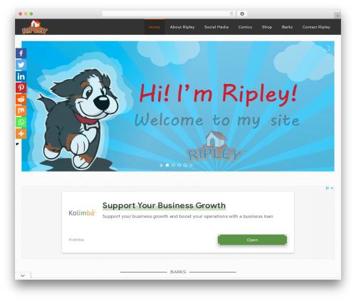 Agency Pro Theme template WordPress - ripleythedog.com