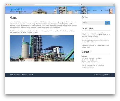 Businessweb Plus free WP theme - upscalelinks.com