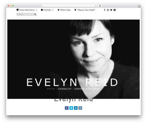 Extra best WordPress theme - evelynreid.com