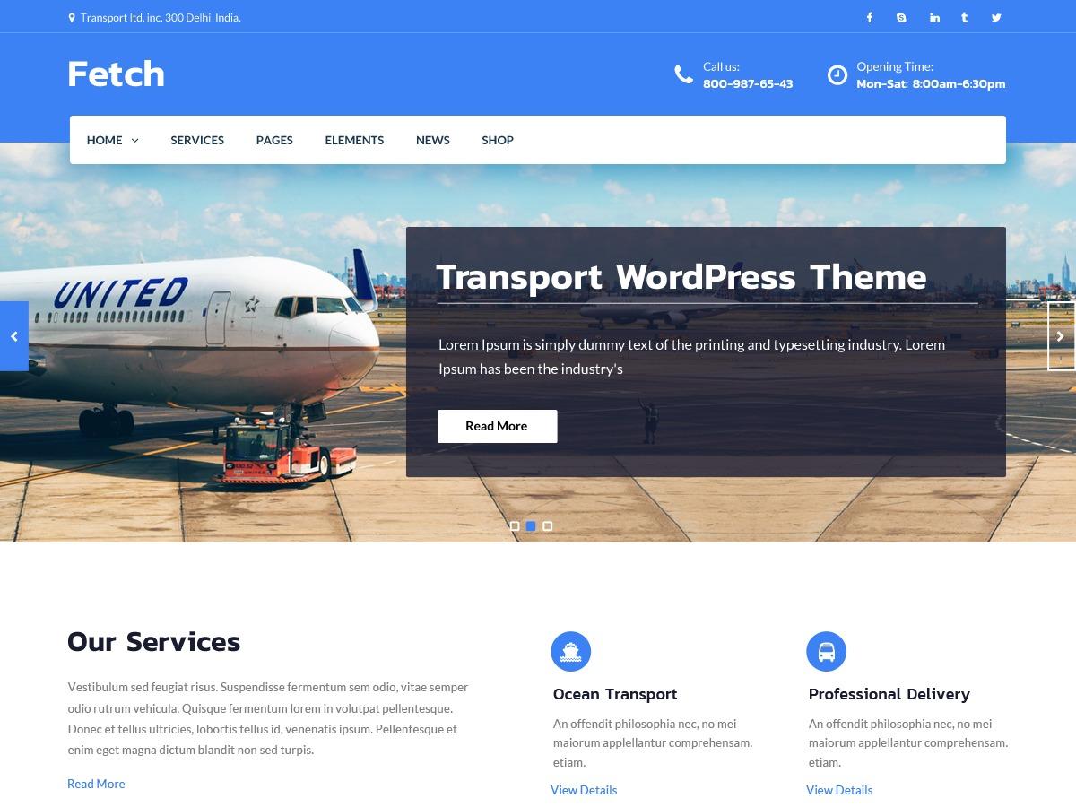 Fetch company WordPress theme