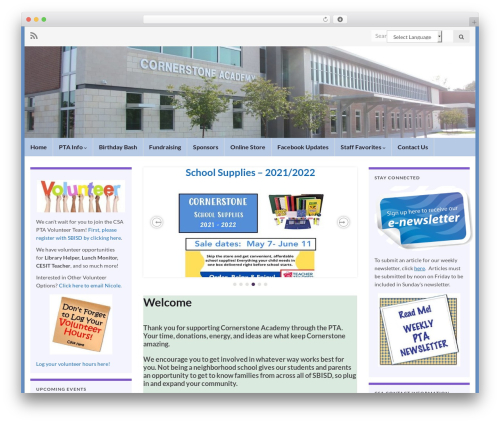 Graphene WordPress theme - cornerstoneacademypta.com