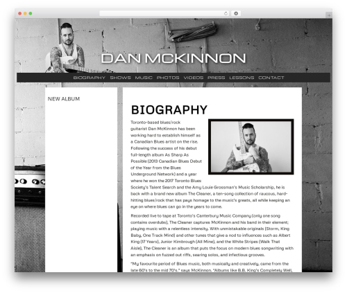 Janine Stoll Media WordPress theme - danmckinnonmusic.com