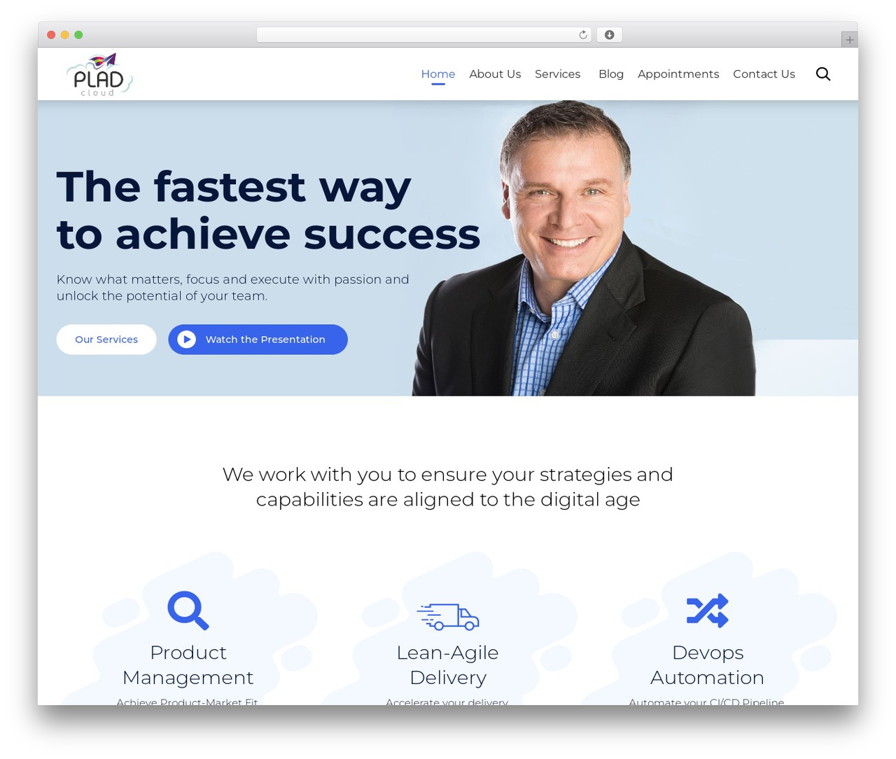 (VamTam) Consulting WordPress website template - pladcloud.com