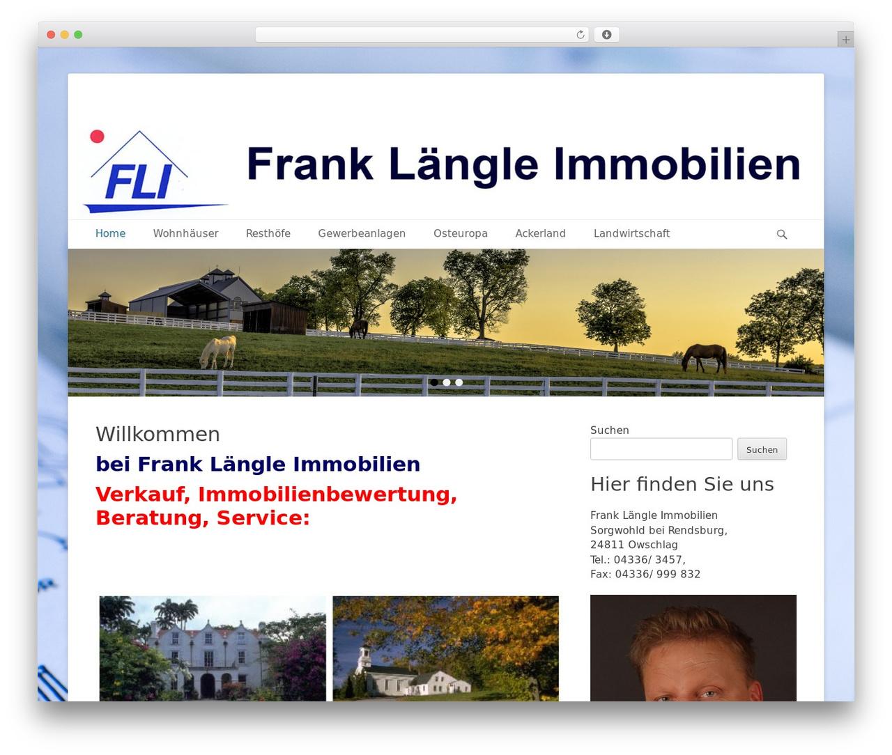 WordPress theme Catch Base Pro - fli-immo.de