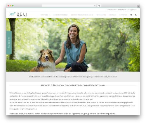 Avada best WordPress theme - beli.ca