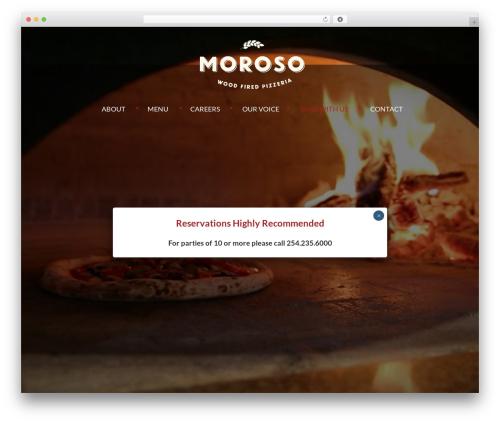 Avada WordPress pizza theme - morosopizzeria.com