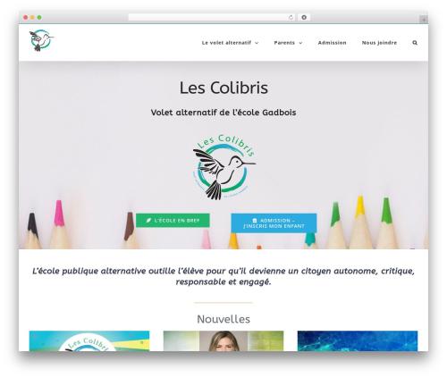 Avada WP theme - ecolelescolibris.com