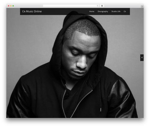 Black Label WordPress page template - c4musiconline.com