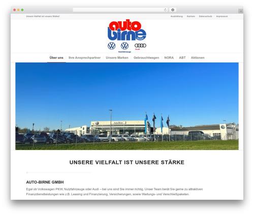 Enfold theme WordPress - auto-birne.de