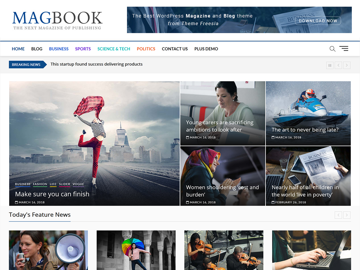 Magbook child template WordPress