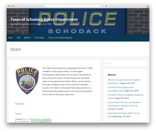 Primer template WordPress - schodackpolice.com