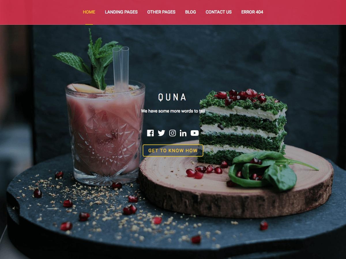 Quna business WordPress theme