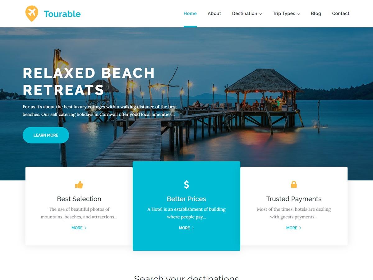 Tourable WordPress travel theme
