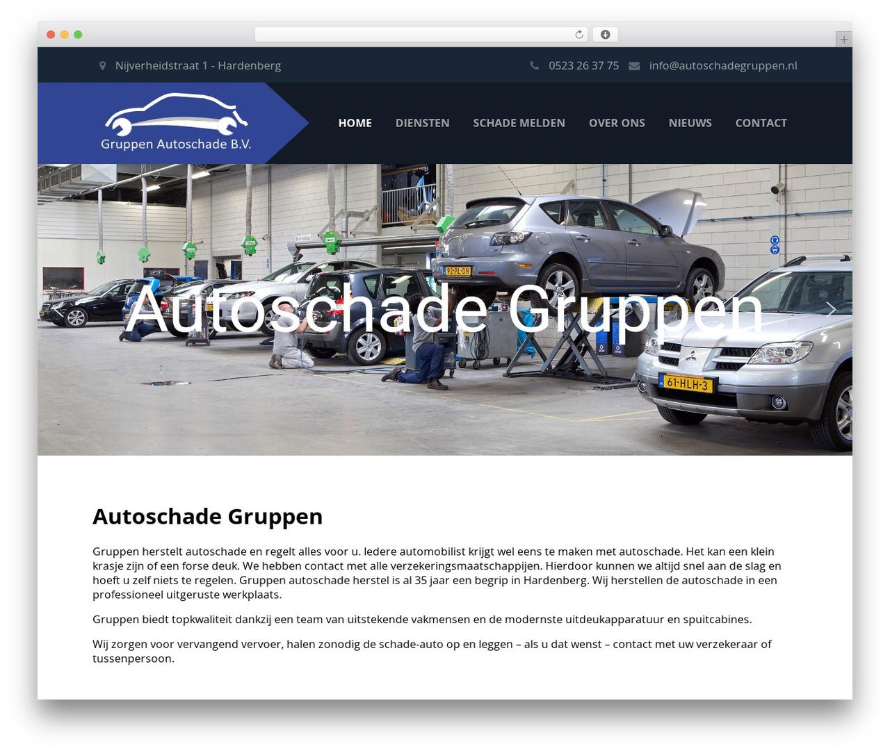 WordPress template Autoschade Gruppen - autoschadegruppen.nl