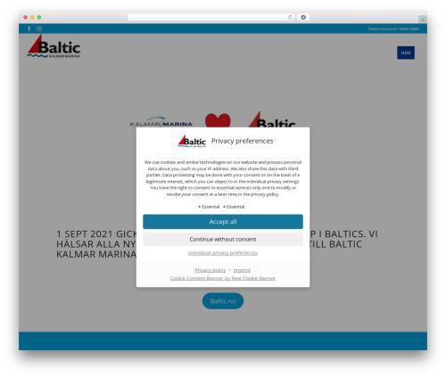 WordPress theme Enfold - kalmarmarina.se