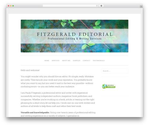 WordPress theme Penscratch - fitzgeraldeditorial.com