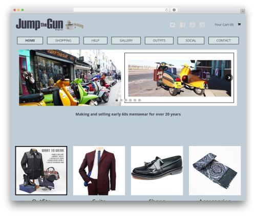 Best WordPress theme SmartShop - jumpthegun.co.uk
