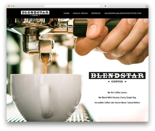 Bridge best WordPress theme - blendstarcoffee.com